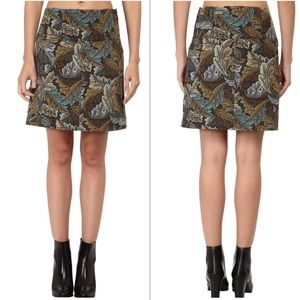 Marc by Marc Jacobs Acanthus Army Skirt 0